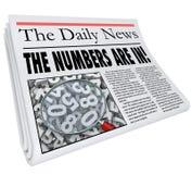 Os números estão no título de jornal trimestralmente Resul anual mensal ilustração stock