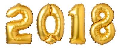 Os números 2018 fizeram de balões dourados Imagem de Stock Royalty Free