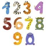 Os números gostam de animais africanos Foto de Stock Royalty Free