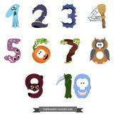 Os números gostam de símbolos de Dia das Bruxas Imagem de Stock Royalty Free