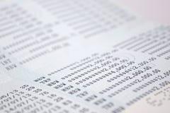 Os números na conta bancária abstraem o fundo Fotografia de Stock