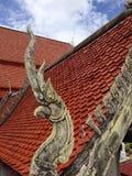 Os Naga telham no templo Fotografia de Stock