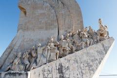 Os navegadores adiantados no monumento às descobertas fotografia de stock royalty free