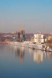 Os navios de passageiro na porta Fotografia de Stock