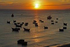 Os navios no mar Foto de Stock Royalty Free