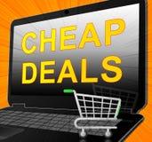 Os negócios baratos representam a ilustração relativa à promoção da liquidação 3d ilustração royalty free