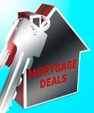 Os negócios da hipoteca representam a rendição dos discontos 3d do alojamento ilustração stock