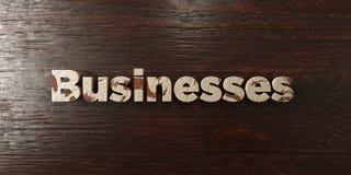 Os negócios - título de madeira sujo no bordo - 3D renderam a imagem conservada em estoque livre dos direitos ilustração royalty free