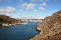 Os NL do St John da entrada de porto dos estreitos Imagem de Stock Royalty Free