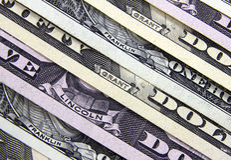 Os nomes dos presidentes nas cédulas do dólar Imagem de Stock Royalty Free