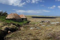 Os noruegueses moem e estufam Shawbost, ilha de Lewis, Escócia Imagem de Stock Royalty Free