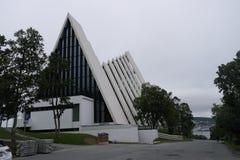 Os noruegueses Tromsø A catedral ártica Imagem de Stock Royalty Free