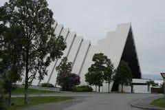 Os noruegueses Tromsø A catedral ártica Imagem de Stock