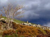 Os nuvems tempestuosa constroem sobre o Scottish amarram Fotografia de Stock