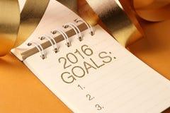 Os 2016 objetivos de ano novo Foto de Stock Royalty Free