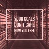 """Os objetivos inspiradores inspirados do """"your das citações não se importam o ` Foto de Stock Royalty Free"""
