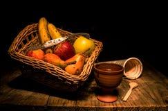 Os objetos da fruta imagem de stock