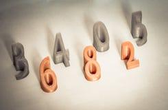 Os objetos imprimiram 3d pela impressora Isolated no fundo branco Foto de Stock