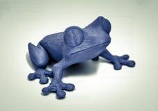 Os objetos imprimiram pela impressora 3d no fundo branco Fotografia de Stock Royalty Free