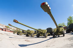 Os obus 2A65 MSTA-B de 152 milímetros Fotos de Stock Royalty Free