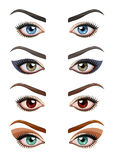 Os olhos da mulher com composição Imagens de Stock Royalty Free