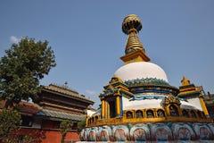 Os olhos da sabedoria, imitam de Bodhnath, Nepal Imagens de Stock Royalty Free