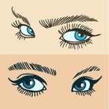 Os olhos das mulheres azuis Imagem de Stock Royalty Free