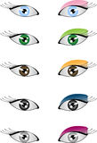 Os olhos e compo Fotografia de Stock