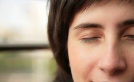 Os olhos fechados Foto de Stock