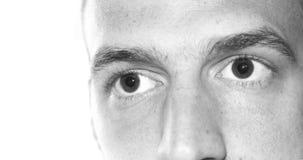 Os olhos fecham-se acima da cara Imagem de Stock
