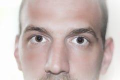 Os olhos fecham-se acima da cara Fotos de Stock Royalty Free