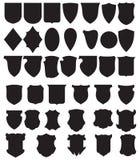 osłona czarny ustalony wektor Royalty Ilustracja