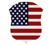 Osłona z USA flaga Zdjęcia Royalty Free