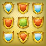 Osłony ochrony ikony Dla Ui gry Fotografia Royalty Free