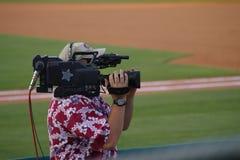 Os operadores cinematográficos Foto de Stock