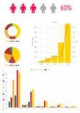Os originais e o negócio infographic da carta analisam Fotos de Stock