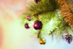 Os ornamento do Xmas do Xmas do Natal temperam foto de stock royalty free