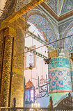 Os ornamento islâmicos no museu de Mevlana Fotografia de Stock