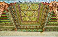 Os ornamento ricos de Jami Mosque Fotografia de Stock Royalty Free