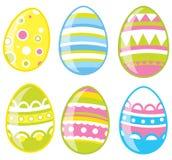 Os ovos de Easter ajustaram-se Fotos de Stock Royalty Free
