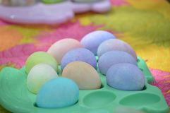 Os ovos de easter coloridos Fotografia de Stock Royalty Free