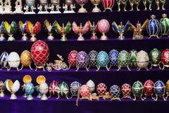 Os ovos de Faberge são lembrança famosa do russo em Rússia Fotografia de Stock