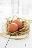 Os ovos de galinha imagens de stock