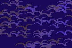 Os pássaros de voo abstraem para entregar o fundo, a textura ou o contexto tirado Desarrumado, criativo, detalhes & papel de pare ilustração do vetor
