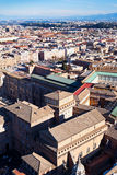 Os pássaros veem no centro da cidade de Roma Imagens de Stock Royalty Free