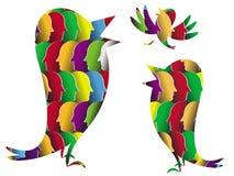 Os pássaros virtuais Fotografia de Stock