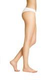 Os pés delgados das mulheres imagens de stock royalty free