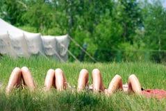 Os pés são descanso Imagem de Stock
