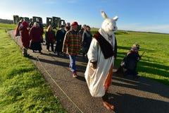 Os Pagans marcam Autumn Equinox em Stonehenge Imagens de Stock