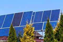 Os pain?is solares fotos de stock royalty free